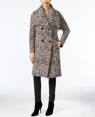 Jones New York Paisley-Print Walker Coat $360 thestylecure.com