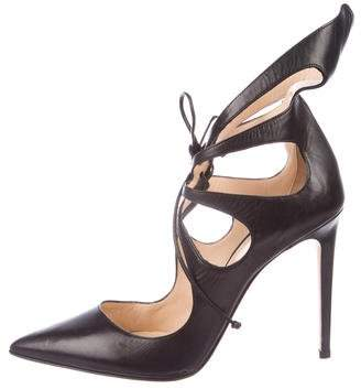 Alejandro Ingelmo Leather Cutout Pumps
