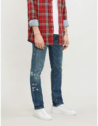 Polo Ralph Lauren Sullivan paint-splattered slim-fit tapered jeans