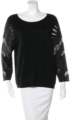 Sandro Knit Lace Sweater $75 thestylecure.com