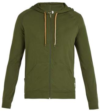 Paul Smith Cotton Zip Up Hooded Sweatshirt - Mens - Green