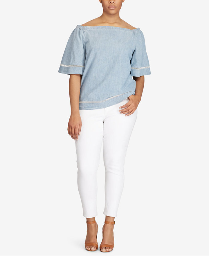 Lauren Ralph LaurenLauren Ralph Lauren Plus Size Ankle Jeans