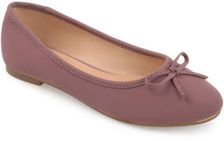 Journee Collection Womens Conlin Ballet Flats Slip-on Round Toe-Wide Width
