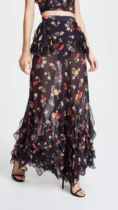 Rodarte Floral Pants with Lace Detail