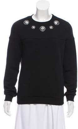 Versus Embellished Crew Neck Sweatshirt
