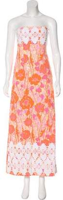 Lilly Pulitzer Crochet-Trimmed Printed Dress
