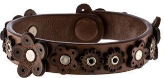 Bottega VenetaBottega Veneta Leather Flower Bracelet