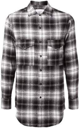 Song For The Mute tartan pattern shirt