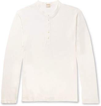Massimo Alba Watercolour-Dyed Cotton-Jersey Henley T-Shirt