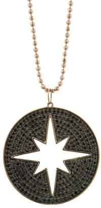 Sydney Evan Cut Out Black Diamond Starburst Necklace - Rose Gold