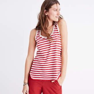 Whisper Cotton Scoop Tank Top in Suzi Stripe $19.50 thestylecure.com