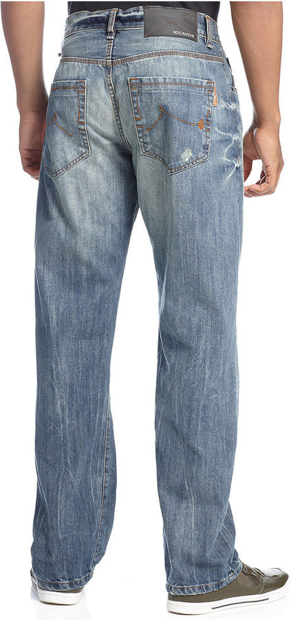 Rocawear Jeans, Lifetime Distressed Straight Leg Jeans
