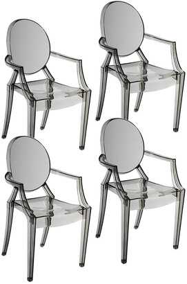 Pangea Set Of 4 Bentley Arm Dining Chairs