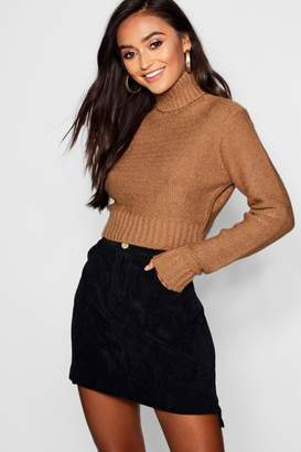 boohoo Petite Soft Knit Roll Neck Jumper