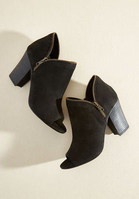 Sbicca Zip into Shape Suede Bootie $89.99 thestylecure.com