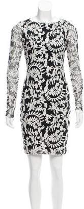 Alice + Olivia Embroidered Mesh Dress w/ Tags