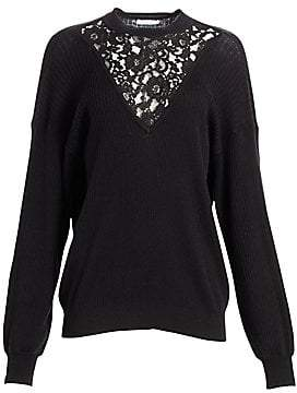 See by Chloe Women's Lace Inset Wool & Cotton Knit