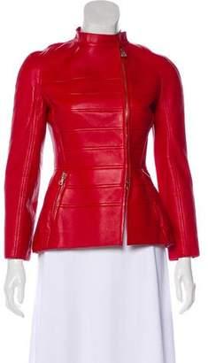 Valentino Leather Long Sleeve Jacket