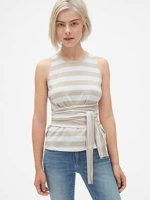 Gap Stripe Wrap Tie-Waist Tank Top