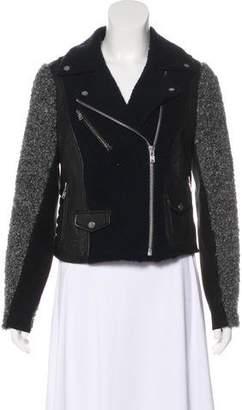 Yigal Azrouel Shearling Leather-Paneled Jacket