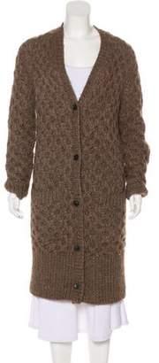 Michael Kors Cable Knit V-Neck Cardigan