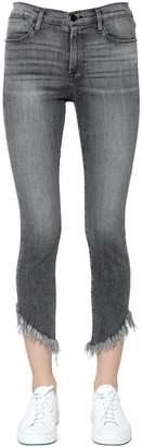 Frame Le High Skinny Shredded Hem Denim Jeans