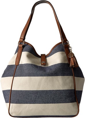 Tommy Hilfiger Hazel Tote Woven Rugby Canvas $128 thestylecure.com