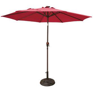 Oasis OUTDOOR Outdoor 9ft LED Cranktilt Market Patio Umbrella