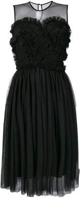 P.A.R.O.S.H. frilled bustier sleeveless dress
