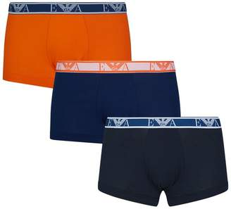 Emporio Armani Stretch Cotton Trunks (Pack of 3)