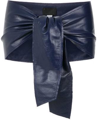 Andrea Bogosian leather tie belt