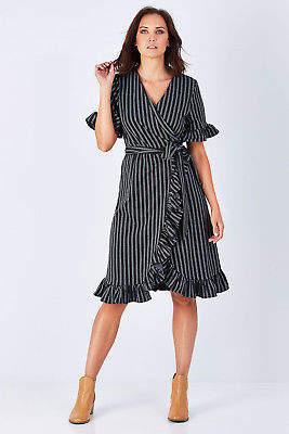Flossy Brave & True NEW Brave & True Womens Knee Length Dresses Dress BlackHawke