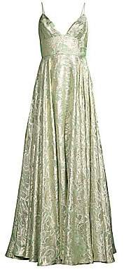 Mestiza New York Women's Stella Printed Chiffon Gown
