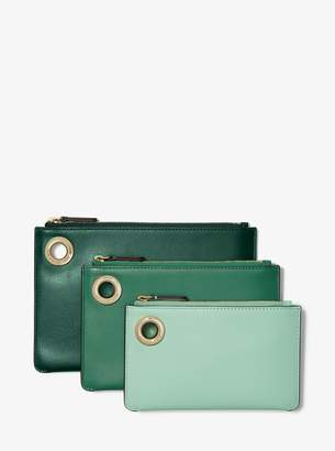 MICHAEL Michael Kors Tri-Color Leather Pouch Trio