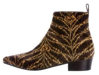 Louis Vuitton Charlotte Velvet Ankle Boots