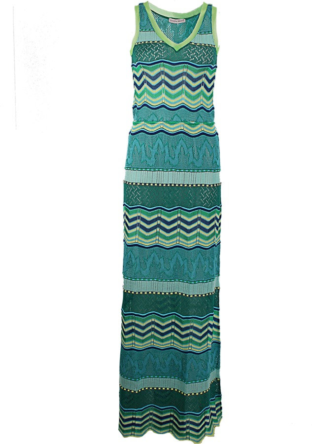 Cecilia Prado Sleeveless Long Zig Zag Dress