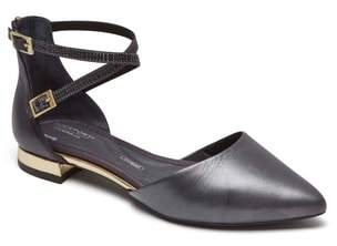 Rockport Total Motion(R) Zuly Luxe Ankle Strap Flat