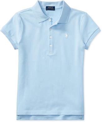 Polo Ralph Lauren Ralph Lauren Big Girls Stretch Mesh Polo Shirt