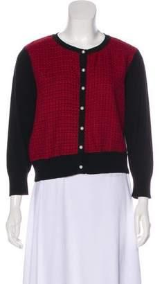 Karl Lagerfeld Textured Button-Up Cardigan