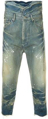 Julius distressed cropped jeans