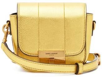 Saint Laurent Betty Mini Metallic Leather Cross Body Bag - Womens - Gold