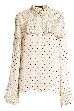 Mother of Pearl Women's Polka-Dot Blouse