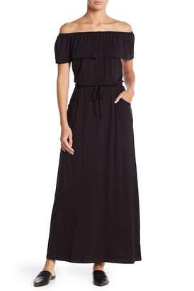 Max Studio Off-the-Shoulder Maxi Dress
