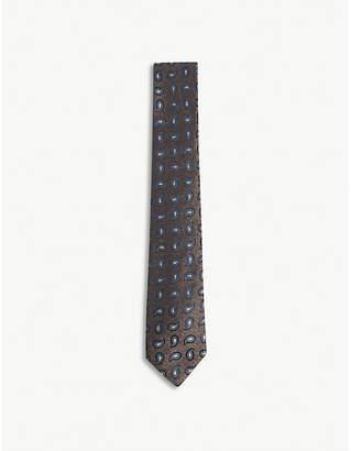 Richard James Paisley teardrops print silk tie