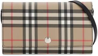 Burberry Vintage Check Wallet Shoulder Bag
