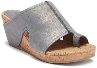 Donald J Pliner Gee Loop Toe Platform Wedge Sandal