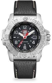 Luminox Navy Seal Steel Diver Stainless Steel and Leather Strap Watch
