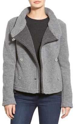 Women's James Perse Shrunken Fleece Jacket $475 thestylecure.com