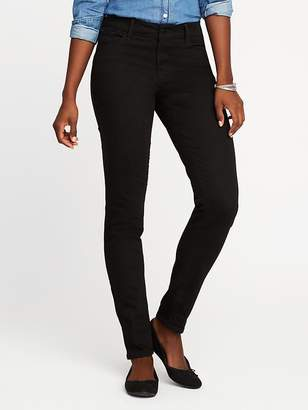 Old Navy Mid-Rise Never-Fade Rockstar Black Jeans for Women