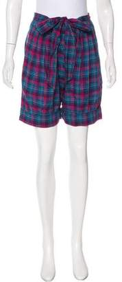 Marc by Marc Jacobs High-Rise Plaid Shorts